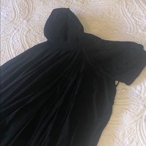 Fun black Strapless dress with peek a boo back